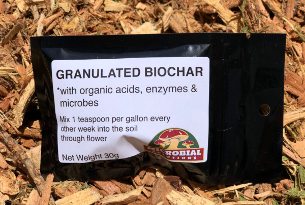 Granulated Biochar with amino acid, fulvic acid, humic acid, enzymes and microbes