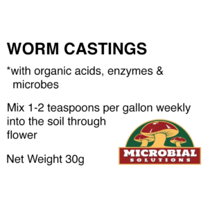 Worm Castings, humic acid, fulvic acid, enzymes, microbes